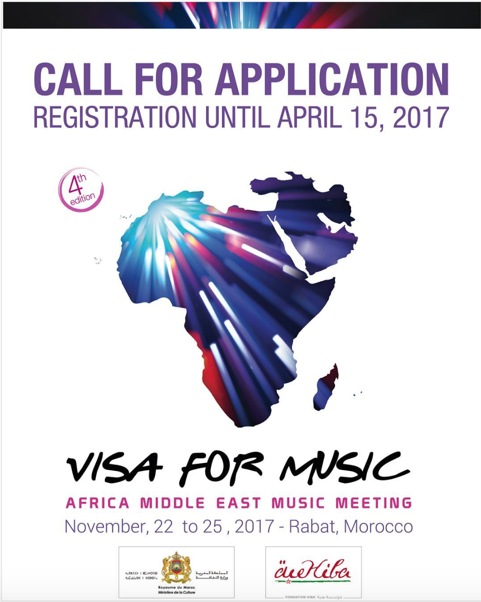 The call for application for the 4th edition of Visa For Music is launched!