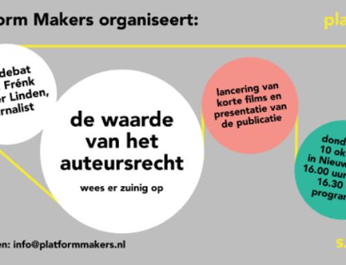 Auteursrecht debat in Nieuwspoort – 10 oktober