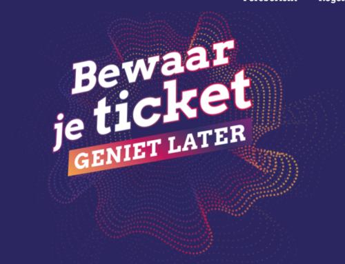Culturele sector roept houders van tickets op: Bewaar je ticket, geniet later