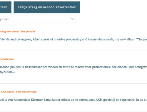 Nieuwe rubriek van World Music Forum NL